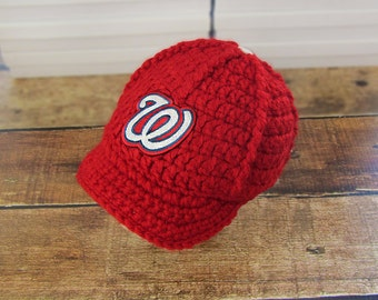 Washington Nationals Baby Hat, Nationals Baby Hat, Sport Baby Hat, Baseball Baby Hats, Baby boy clothes, Football hat, Baby hat, crochet hat