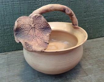 Vintage Clay Basket Pottery