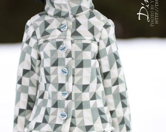 Green triangle coat  -for 1/4 MSD bjd