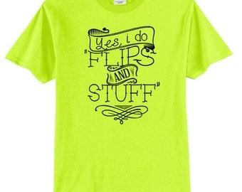 Gymnastics Flips and Stuff Shirt Gymnast T Shirt Gymnastics Shirt