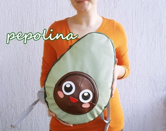 Super Tasty Sweet and Adorable Japanese Anime Kawaii Avocado Food Backpack for teens