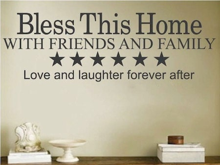 Bless This Home Wall Quote Home Quote Sticker Wall Quote Living - Dining room vinyl wall quotes