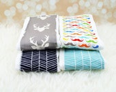 PICK ANY 4 Baby Burp Cloths ||| burp rag, baby burp cloths, burping rag, baby shower gift, baby gift, new baby gift