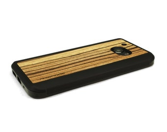 HTC 10 Case Wood Zebrawood, Wood HTC 10 Case, HTC 10 Wood Case