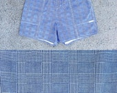 CLEARANCE - FINAL SALE - Plus Size - Vintage Black & White Plaid High Waist Shorts (Size 16)