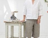 Boys capri pants Toddler boy pants Boy clothes Boys linen pants Ring bearer pants Natural linen pants Boys trousers Beach Wedding pants