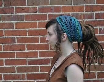 River Waves Wool Headband // 100% Wool Openwork Dreadlock Hairband