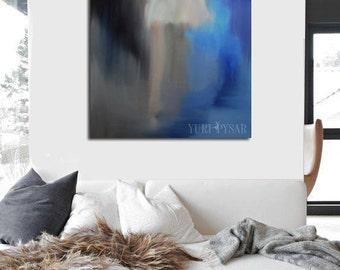 Blue Home Decor Large Wall Art Print, Gift for Dancer, Print Canvas Art, Ballerina Print Dance Poster