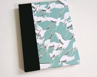 Teal Cranes A5 Sketchbook