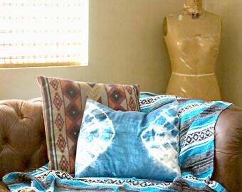 Small Mexi-Blanket - Home Decor - Beach Blanket - Festival Blanket - Concert Blanket - Mexican Blanket - Mexican Throw - Vintage Blanket