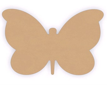 """MDF Wood Butterfly Craft Cutout Shapes - Sizes 6"""" to 12"""""""