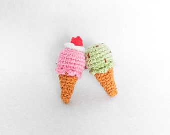 Crochet Ice Cream Cone Ring