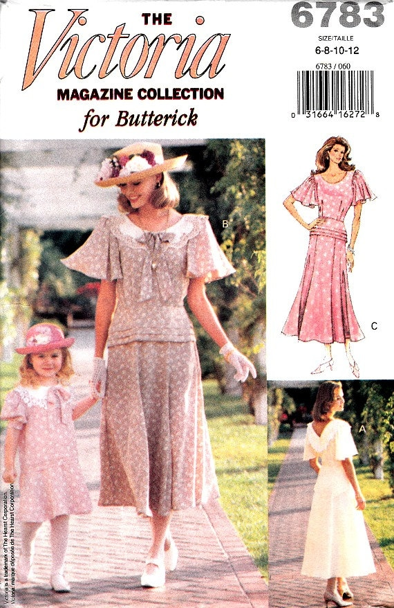 Vintage victoria magazine dress pattern 40 39 s style scoop for Victoria magazine low country style