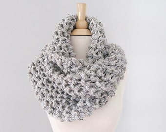 Knit Scarf Claire | Claire Knit Cowl | Infinity Cowl Chunky Knit | Chunky Cowl