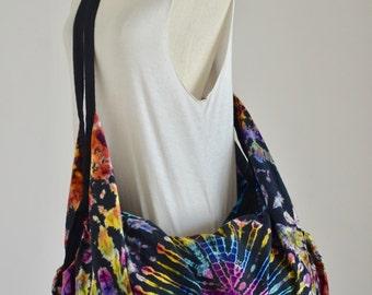 Winddancer Tie Dye Bag Hippie Bag Hobo Bag Sling Bag Cotton Shoulder Bag Boho Bag Crossbody Bag Diaper Bag Purse Messenger Bag 04