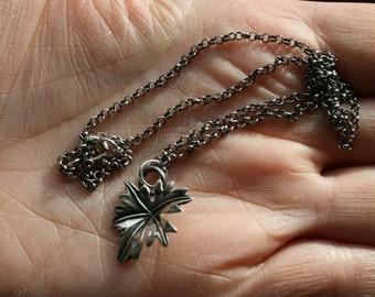 Sterling Leaf Charm Necklace