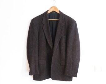 GUY LAROCHE Vintage Very Rare Paris Couture Wool Blazer Jacket, sz. 52 short