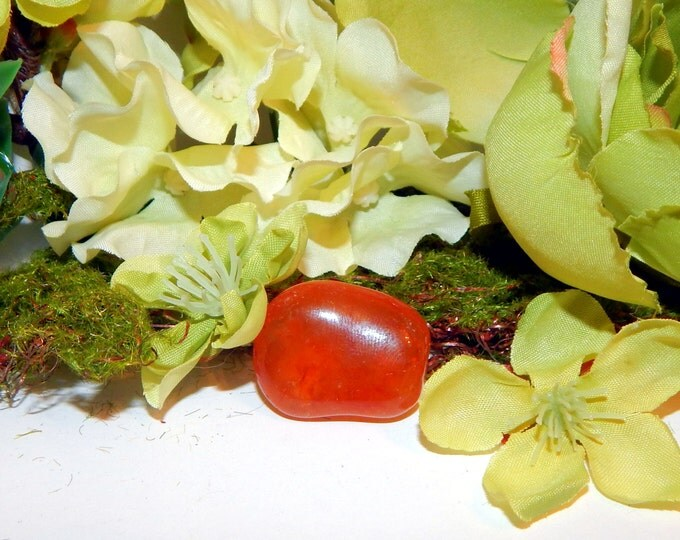 TUMBLED CARNELIAN gemstone - hand-picked natural stone - Reiki Wicca Pagan Energy-work Tool