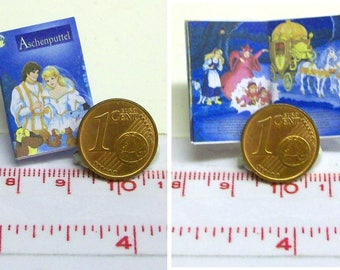 "1126# German Childrens Book ""Aschenputtel"" Cinderella - with many pictures - Doll house miniature in scale 1/12"