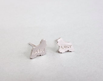 Personalized Spaniel Dog Earrings