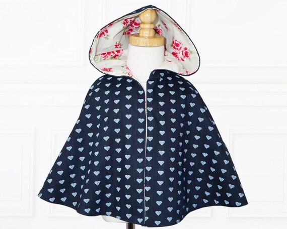 Girls sewing pattern pdf, childrens sewing pattern, Costume, Jacket,  easy sewing pdf pattern, cape sewing pattern girls cape pattern MAISIE