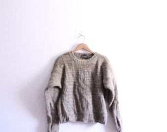 Speckled Heavy Wool 90s Sweater
