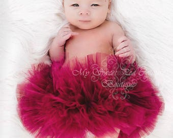Burgundy Tutu- Tutu- Princess Tutu- Baby Tutu- Newborn Tutu- Tutu- Toddler Tutu- Birthday Tutu- First Birthday Tutu- Cake Smash Tutu