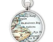 gift for man, St Andrews Scotland map, husband gift for christmas, Scotland golf gift, also as a bottle opener keychain gift
