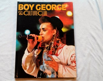 """Awesome 80's Hardcover, """"Boy George & Culture Club"""" published by Gallery Books, 1984."""