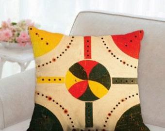 Rustic Antique Game Board Designer Pillow