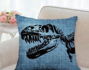 T-Rex Dinosaur Pillow (Three Colors-blue, beige, red)