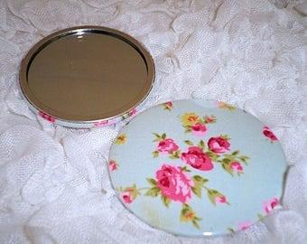 Small Mirror, Handbag Mirror, 77mm Mirror, Pocket Mirror, Compact Mirror, Purse Mirror, Fabric Covered Mirror, Round Mirror, Gift For Her