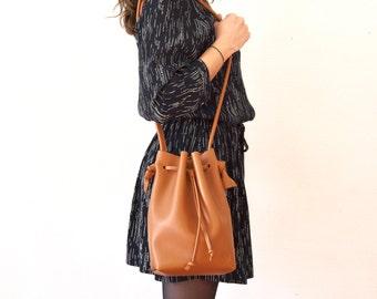"""Bag seal """"Giselle"""" - Black leather"""