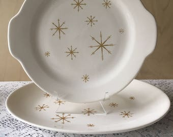 Royal China Starglow Platter and Cake Plate
