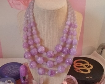 Vintage layered necklace costume jewelry