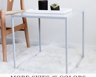 Modular Table Bedside Nightstand Modern Furniture Scandinavian Danish Mid Century Minimal Side Table Contemporary Table Coffee Grey #PCD2
