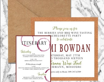 WINE & CORK INVITATIONS (digital file)