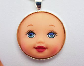 Baby Face Barbie Doll Face Necklace | Dollfaced