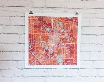 Orlando Florida Map Print