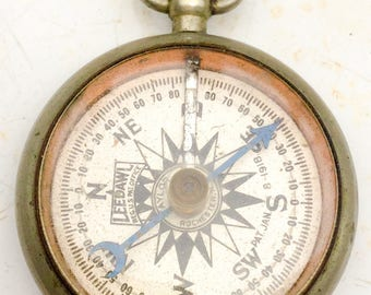 working antique COMPASS - Leedawl  Short & Mason - Taylor -PAT.  Rochester, NY. 1918 pocket watch fob, steampunk pendant