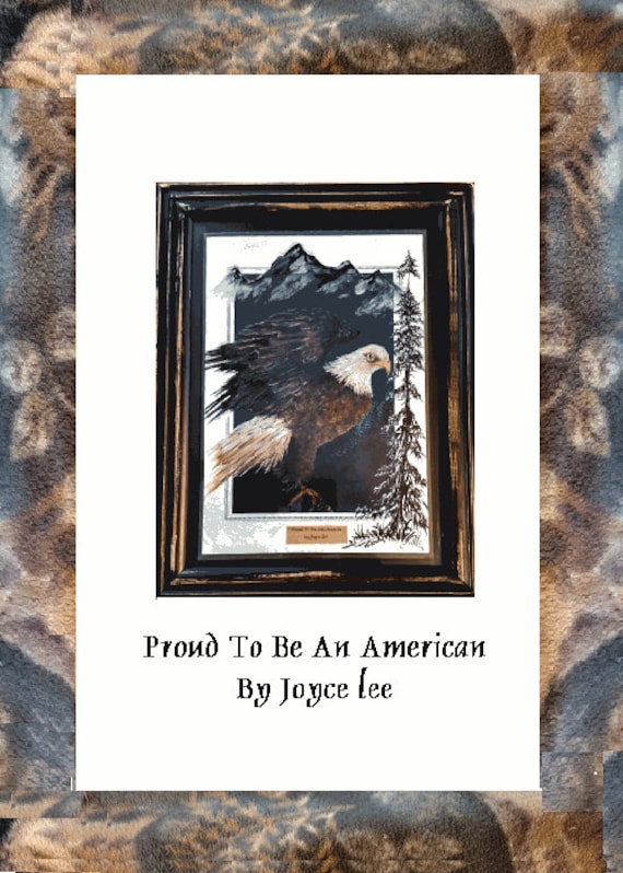Proud To Be An American Print  Painted By Joyce Lee