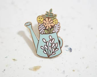 Watering Can Enamel Pin // Hard Enamel - Enamel Pin - Pin - Lapel Pin - Flair - Brooch - Collar Pin - Hat Pin - By Justine Gilbuena
