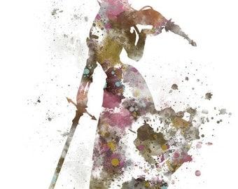 Princess Zelda ART PRINT illustration, Gaming, Legend of Zelda, Home Decor, Wall Art