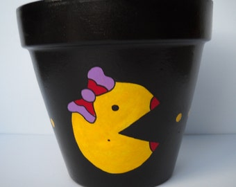 Ghosts Are Chasing Me Mrs. Pac-man Inspired Planter