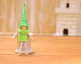 Felt Fairy Doll - felt fairies, boy fairy doll, felt elf doll, boy fairies, waldorf fairy doll, waldorf fairies, miniature fairy doll