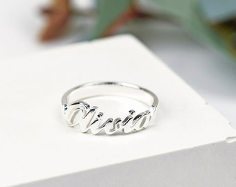 Sterling Silver Name Ring • Personalised Name Ring • Custom Name Ring • Personalised Ring • Personalized Jewelry • Name Jewellery • Any Name