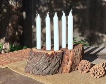 Copper Pipe Candelabra Candle Holder Steampunk Wedding