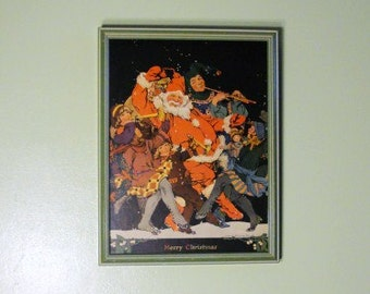 Old Lithograph Saint Nickolas and Gang, byClara Elsene Green and Professionally Framed