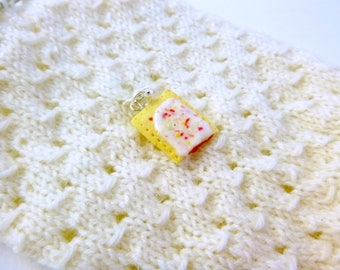 Strawberry Toaster Pastry - Stitch Marker - Progress Keeper - Zipper Pull - Bracelet or Planner Charm
