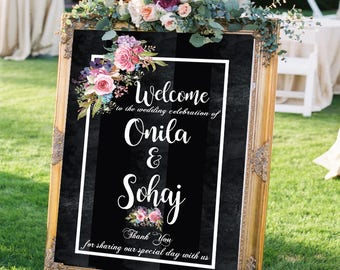 rustic wedding signs welcome wedding signs printable flower wedding signs chalkboard custom wedding sign personalized wedding welcome sign